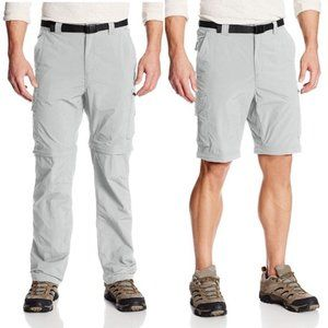 NWT Columbia Silver Ridge Convertible Pants Gray F